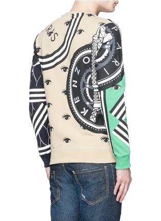 Back View - Click To Enlarge - KENZO - Mix logo embroidery sweatshirt