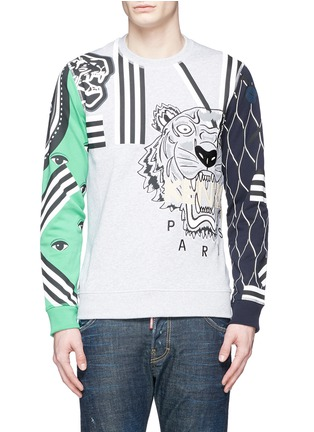 Main View - Click To Enlarge - KENZO - Mix logo embroidery sweatshirt