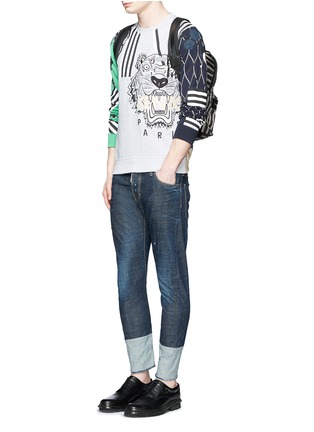 Figure View - Click To Enlarge - KENZO - Mix logo embroidery sweatshirt