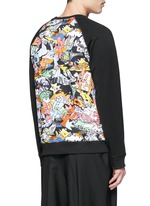 'Cartoon' desert print sweatshirt