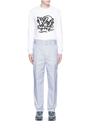 Figure View - Click To Enlarge - KENZO - 'Dancing Cactus' appliqué sweatshirt