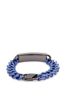 Stephen Webster 'Rayman' sapphire rhodium silver ceramic chain bracelet