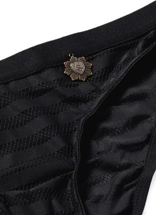 Detail View - Click To Enlarge - Love Stories - 'Firecracker' stripe mesh briefs