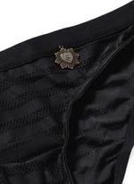 'Firecracker' stripe mesh briefs
