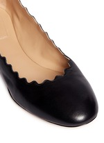'Lauren' scalloped edge leather flats