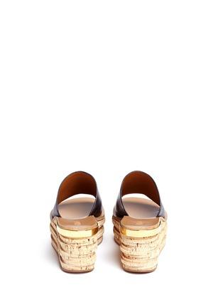 背面 - 点击放大 - CHLOÉ - CAMILLE小牛皮坡跟穆勒鞋