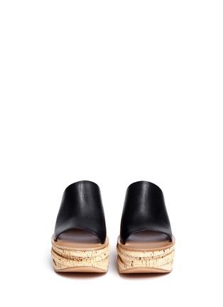 正面 -点击放大 - CHLOÉ - CAMILLE小牛皮坡跟穆勒鞋
