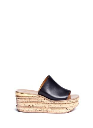 首图 - 点击放大 - CHLOÉ - CAMILLE小牛皮坡跟穆勒鞋