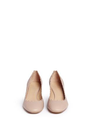 正面 -点击放大 - CHLOÉ - 波浪鞋口纳帕皮高跟鞋
