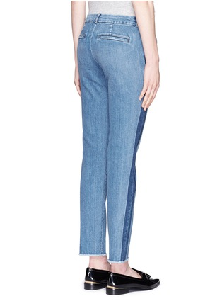 Back View - Click To Enlarge - Vince - Contrast side strapping cotton jeans
