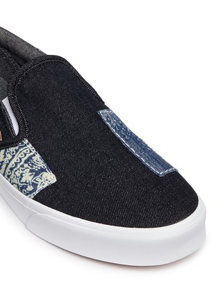 Detail View - Click To Enlarge - Vans - 'Classic' patchwork denim skate slip-ons