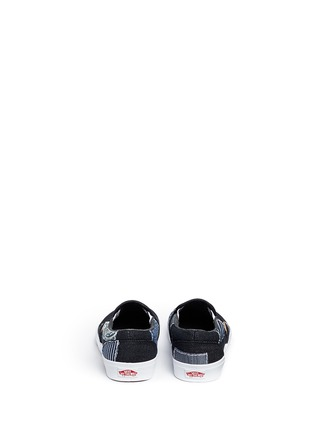 Back View - Click To Enlarge - Vans - 'Classic' patchwork denim skate slip-ons