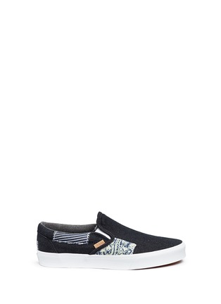 Main View - Click To Enlarge - Vans - 'Classic' patchwork denim skate slip-ons