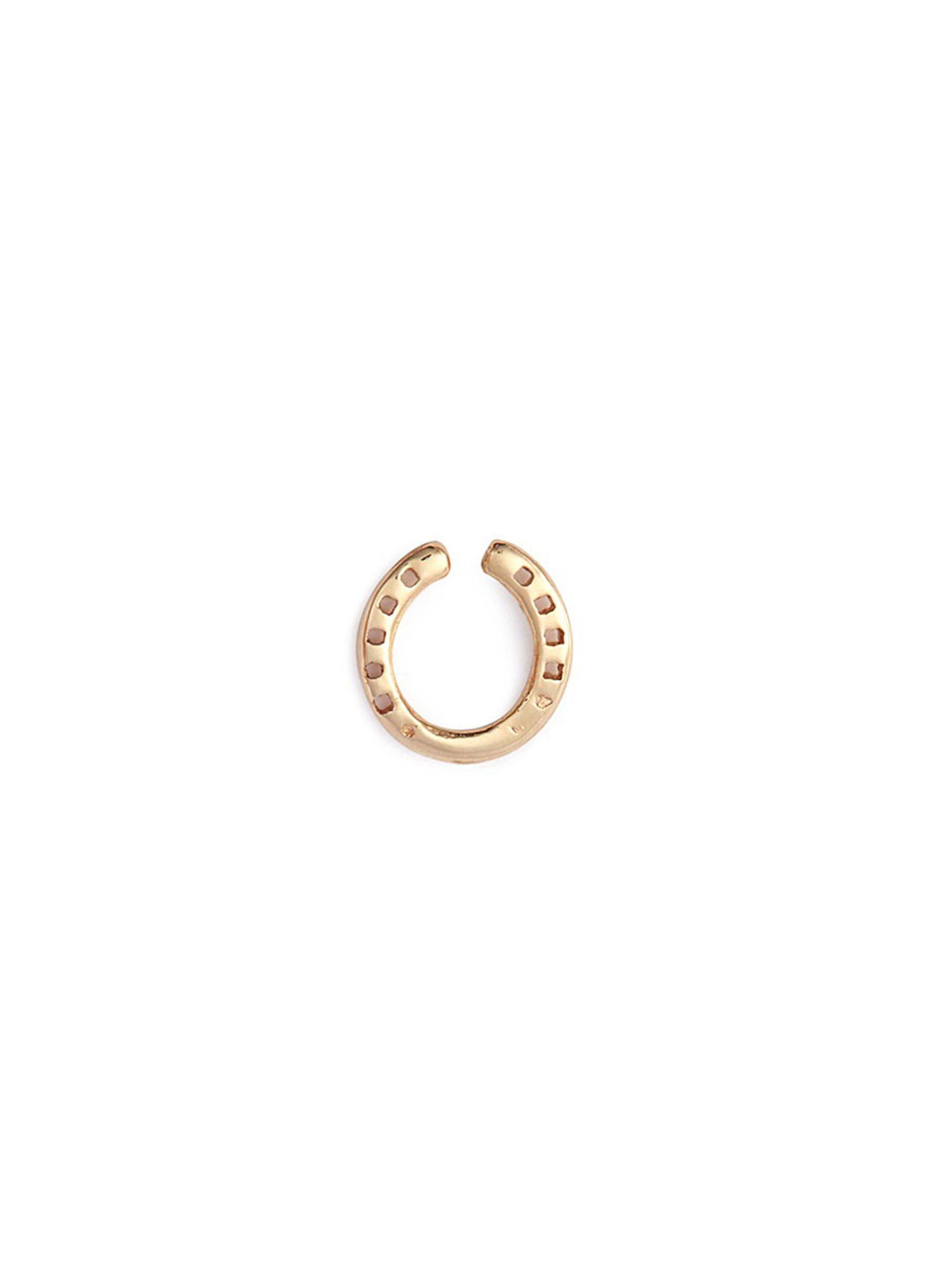 14k yellow gold shell charm bracelet Loquet London 7NZlCCW4