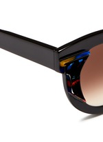 'Slutty' pearlescent contrast acetate cat eye sunglasses