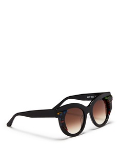 THIERRY LASRY'Slutty' pearlescent contrast acetate cat eye sunglasses