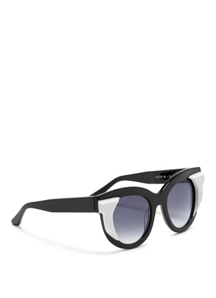Figure View - Click To Enlarge - Thierry Lasry - 'Slutty' contrast side acetate sunglasses