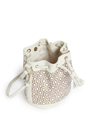 Detail View - Click To Enlarge - Mischa - 'Mini Bucket Bag' in classic hexagon print