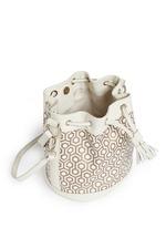 'Mini Bucket Bag' in classic hexagon print