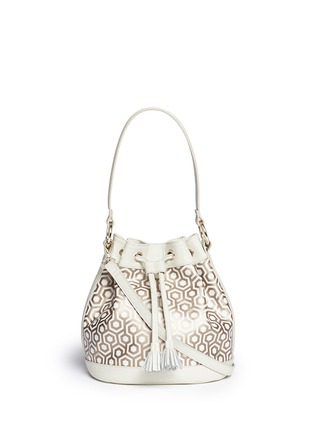 Main View - Click To Enlarge - Mischa - 'Mini Bucket Bag' in classic hexagon print