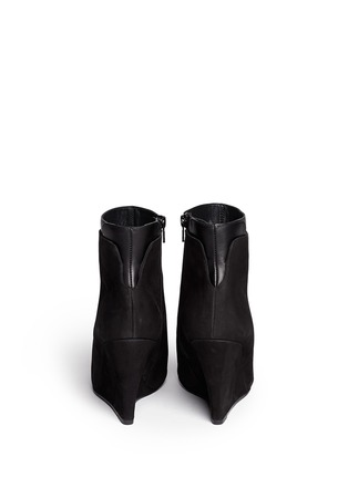 Back View - Click To Enlarge - Vince - 'Ludlow' leather cuff suede boots