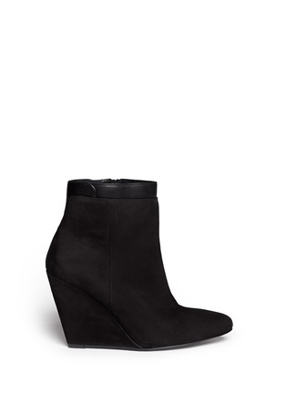 Main View - Click To Enlarge - Vince - 'Ludlow' leather cuff suede boots