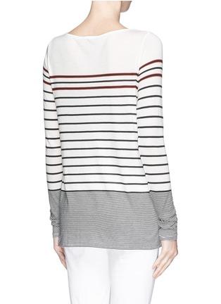 Back View - Click To Enlarge - Vince - Variegated Breton stripe T-shirt