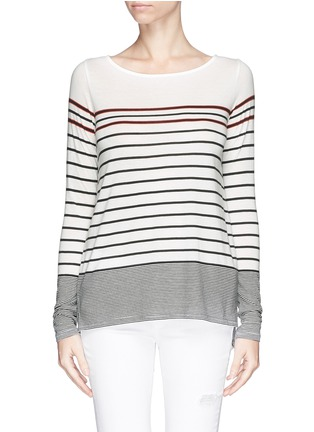 Main View - Click To Enlarge - Vince - Variegated Breton stripe T-shirt