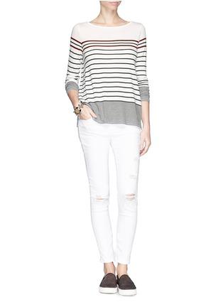 Figure View - Click To Enlarge - Vince - Variegated Breton stripe T-shirt