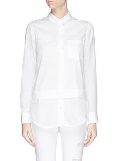 VINCESilk hem cotton shirt