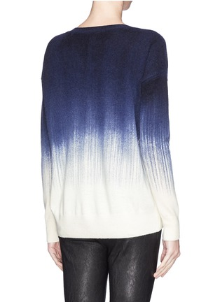 Back View - Click To Enlarge - Vince - Painted ombré wool-cashmere sweater