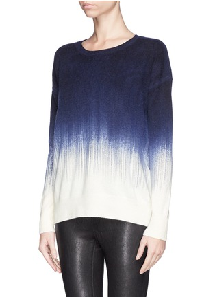 Front View - Click To Enlarge - Vince - Painted ombré wool-cashmere sweater