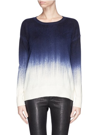 Main View - Click To Enlarge - Vince - Painted ombré wool-cashmere sweater