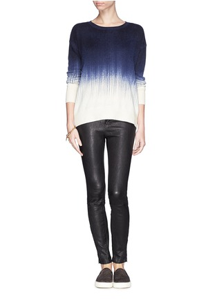 Figure View - Click To Enlarge - Vince - Painted ombré wool-cashmere sweater