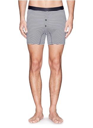 Sunspel-Two-button stripe boxers