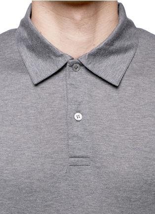 细节 - 点击放大 - SUNSPEL - 纯棉混色polo衫