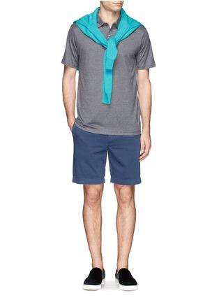 模特儿示范图 - 点击放大 - SUNSPEL - 纯棉混色polo衫