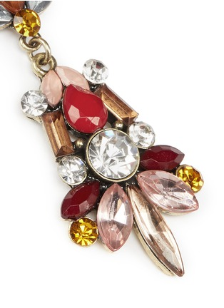 Detail View - Click To Enlarge - Kenneth Jay Lane - Crystal and stone drop earrings