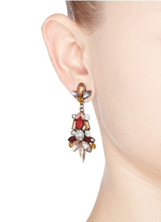 Figure View - Click To Enlarge - Kenneth Jay Lane - Crystal and stone drop earrings