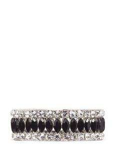 KENNETH JAY LANECrystal and jet elasticated bracelet
