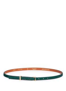 MAISON BOINETCalf hair skinny belt