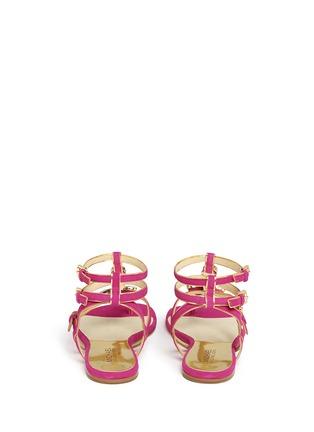 Back View - Click To Enlarge - Michael Kors - 'Jayden' suede ankle strap leather sandals