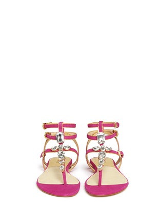 Figure View - Click To Enlarge - Michael Kors - 'Jayden' suede ankle strap leather sandals