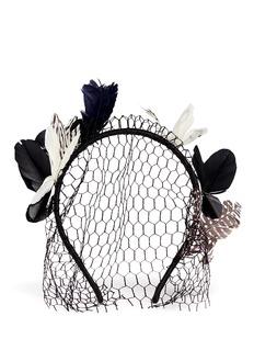 MAISON MICHELFeather butterfly veil headband