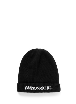 Main View - Click To Enlarge - Maison Michel - 'Maison Michel' rib wool beanie