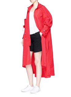 Angel ChenSequin Chinese character long windbreaker