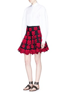 Alaïa 'Bouquet d'Orchidee' floral intarsia flared skirt