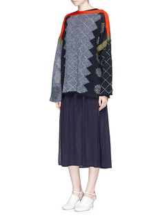 Acne Studios'Rikke' diamond intarsia linen-mohair sweater