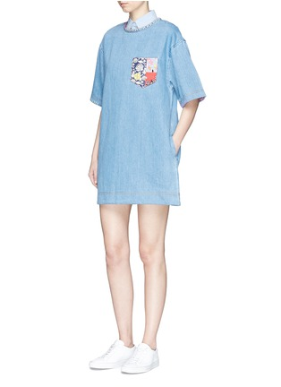 Figure View - Click To Enlarge - Marc Jacobs - Patchwork pocket denim T-shirt dress