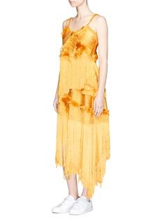 Xu ZhiBraided yarn fringed asymmetric skirt